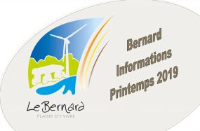 BERNARD INFORMATIONS PRINTEMPS 2019