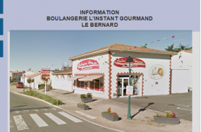 INFORMATION BOULANGERIE L'INSTANT GOURMAND